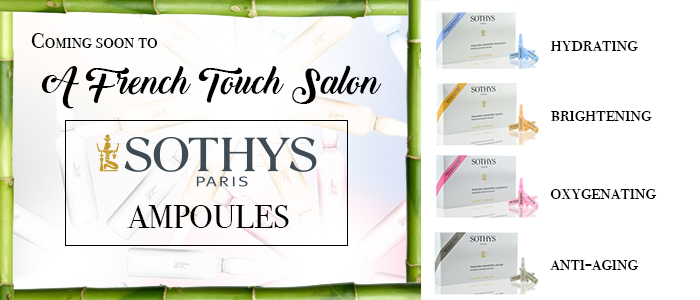 Sothys ampoules at a french touch salon for A french touch salon